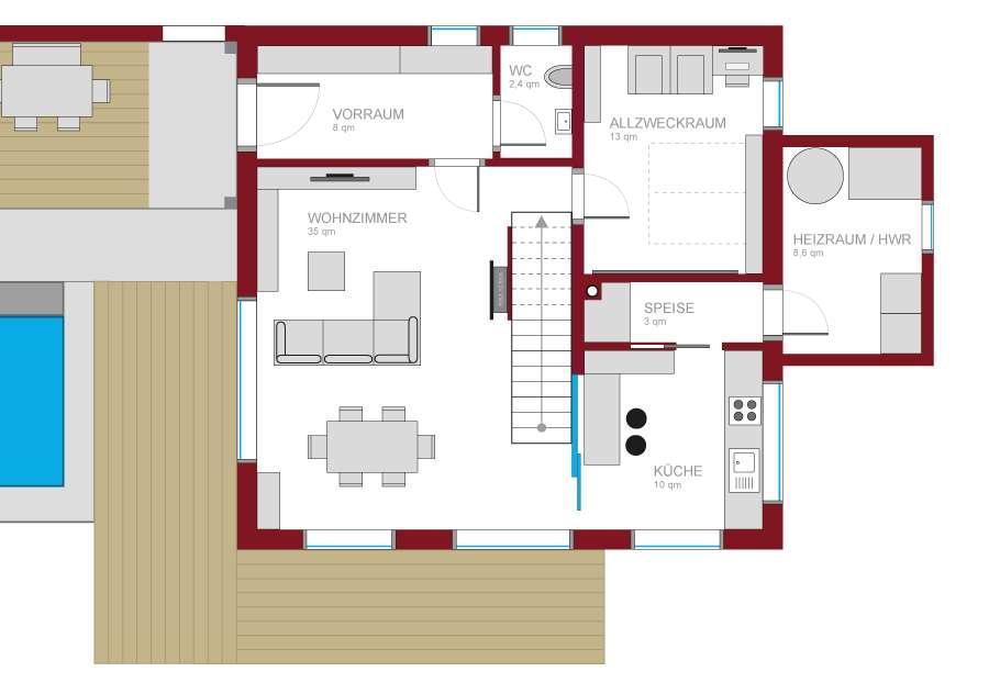 unterzug wohnzimmer:Unterzug wohnzimmer : Unser Grundriss Eure Meinung Grundrissforum auf
