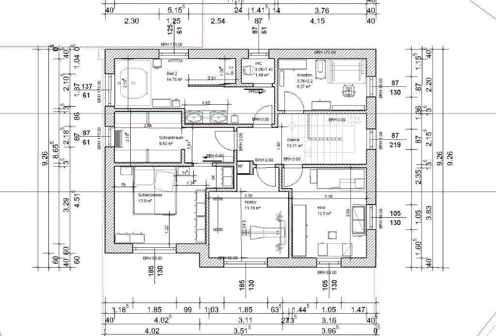 Grundriss PassivHaus 164m²   Bauforum auf energiesparhaus.at