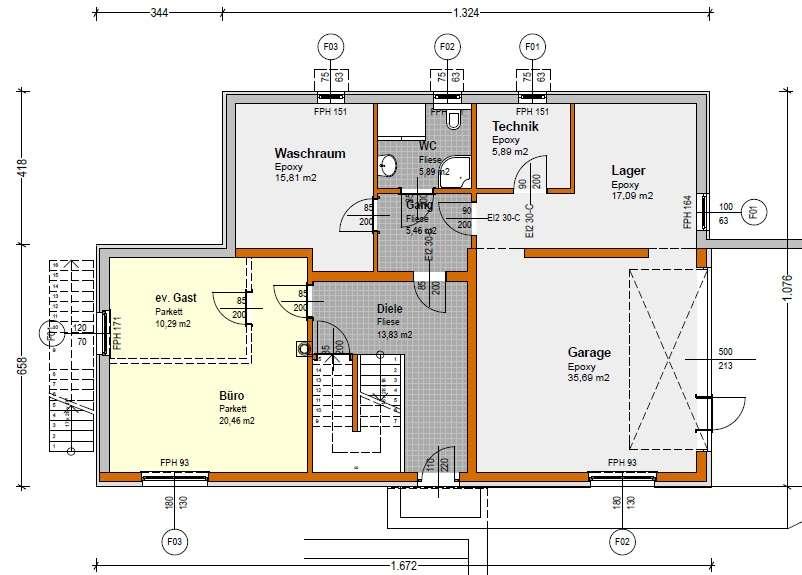 grundri bungalow bauforum auf. Black Bedroom Furniture Sets. Home Design Ideas