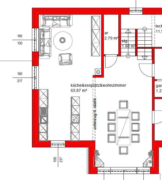 Wohn Und Esszimmer Optisch Trennen Raum Haus Mit