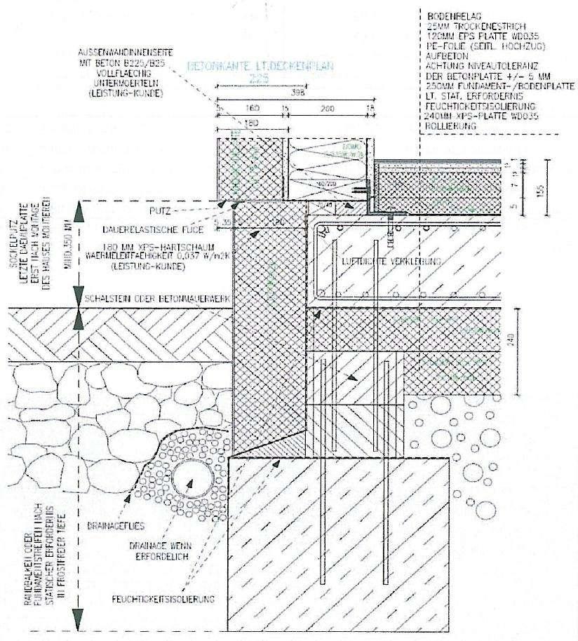 bodenplatte fundament aufbau beton als energiespeicher effizienzhaus plus fundament aufbau. Black Bedroom Furniture Sets. Home Design Ideas