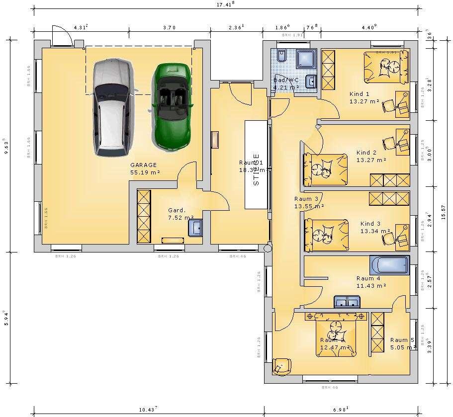 Entwurf plan hanglage grundrissforum auf for Haus mit plan