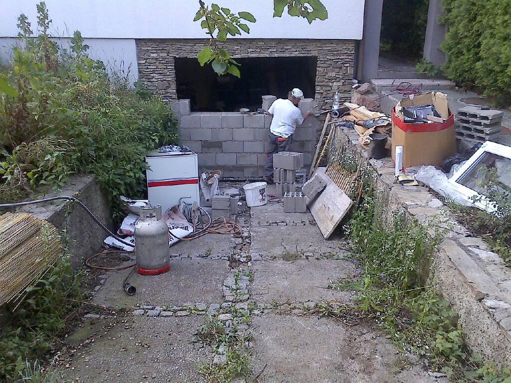 rampe f r garagen zufahrt zusch tten bauforum auf. Black Bedroom Furniture Sets. Home Design Ideas