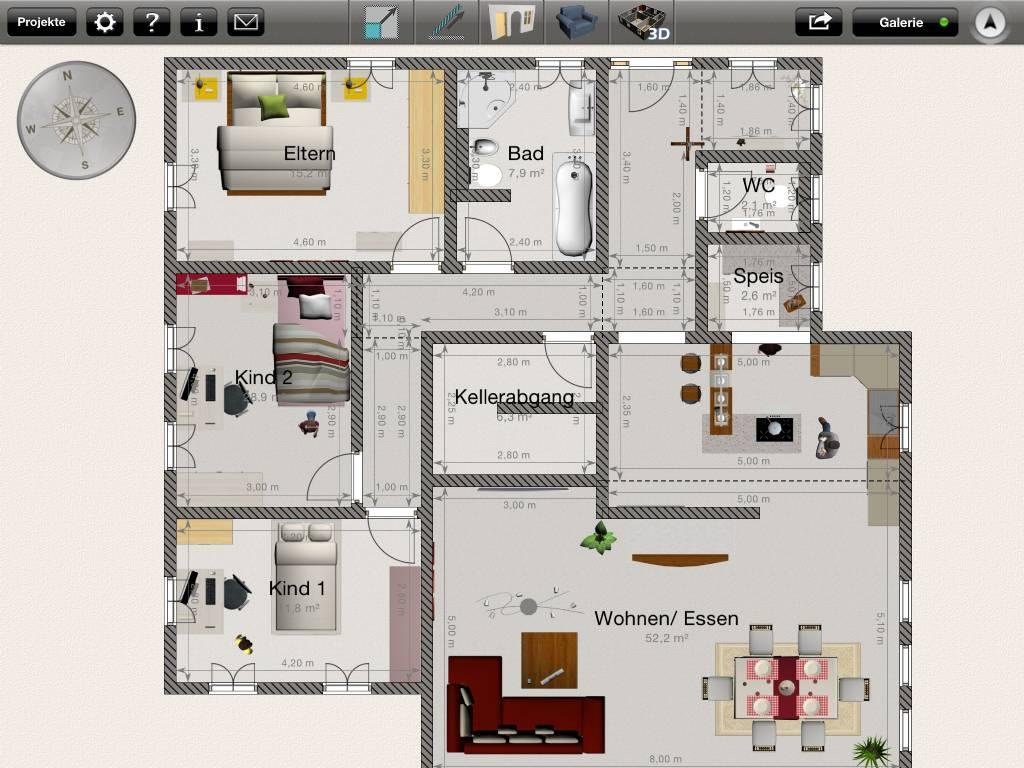 wohnzimmerz: bungalow l form with neubau bungalow grundriss also, Badezimmer