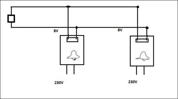 2 gongs mit integr trafo an 1 schalter energieforum auf. Black Bedroom Furniture Sets. Home Design Ideas