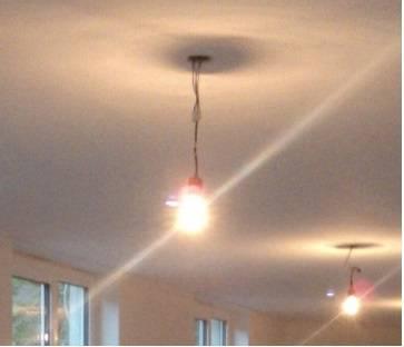 befestigung von lampen an deckendosen