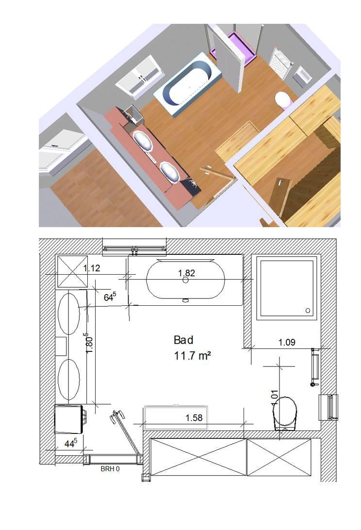 Bad Grundriss - Ideen | Forum Auf Energiesparhaus.at Grundriss Badezimmer 12qm