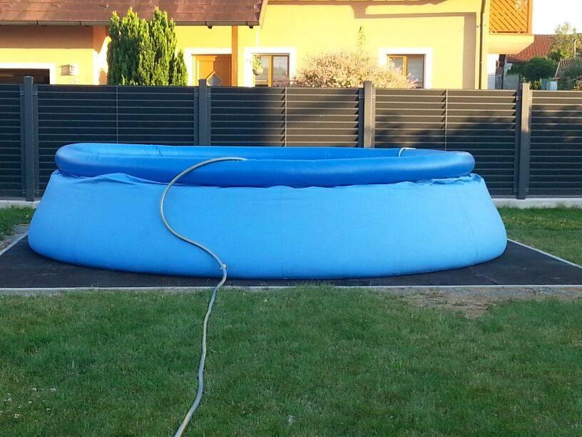 Unterbau f r quick up pool auf ihr for Pool aufstellen