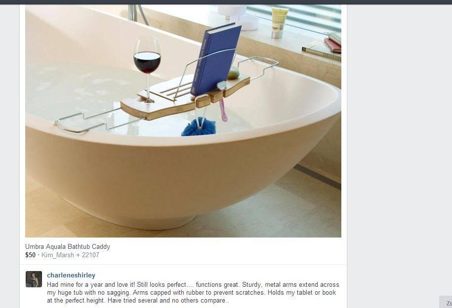 Umbra Aquala Bathtub Caddy Natural - Bathtub Ideas