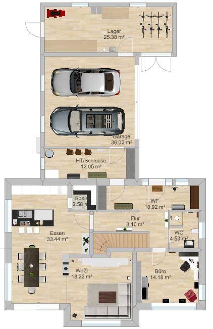 unterzug wohnzimmer:unterzug wohnzimmer : Planungsentwurf EFH Grundrissforum auf