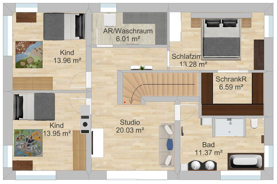 unterzug wohnzimmer:unterzug wohnzimmer : Haus Tschannen Faes, Erlenbach, Schlafzimmer
