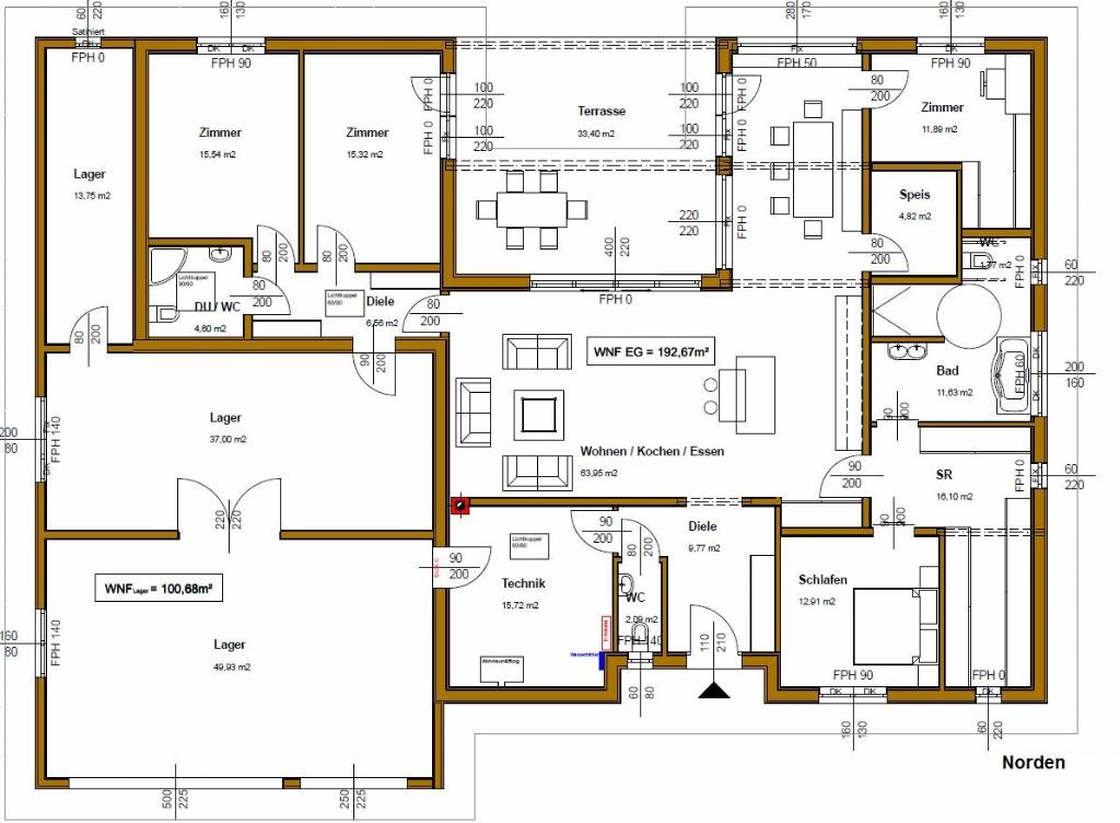 Bungalow grundrisse u form 140qm alle ideen ber home design for Grundriss traumhaus
