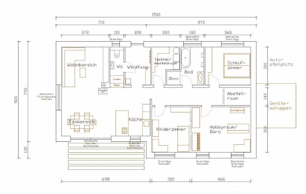 Bungalow u form alle ideen ber home design for Bungalow u form