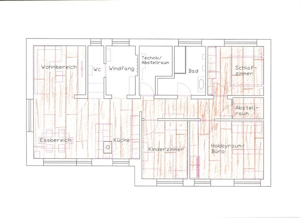 Eichenparkett Im Kompl Haus Durchlegen Bauforum Auf - Holzboden verlegen richtung