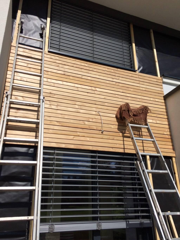 Holzfassade Vws Ubergange Und Dammung Bauforum Auf