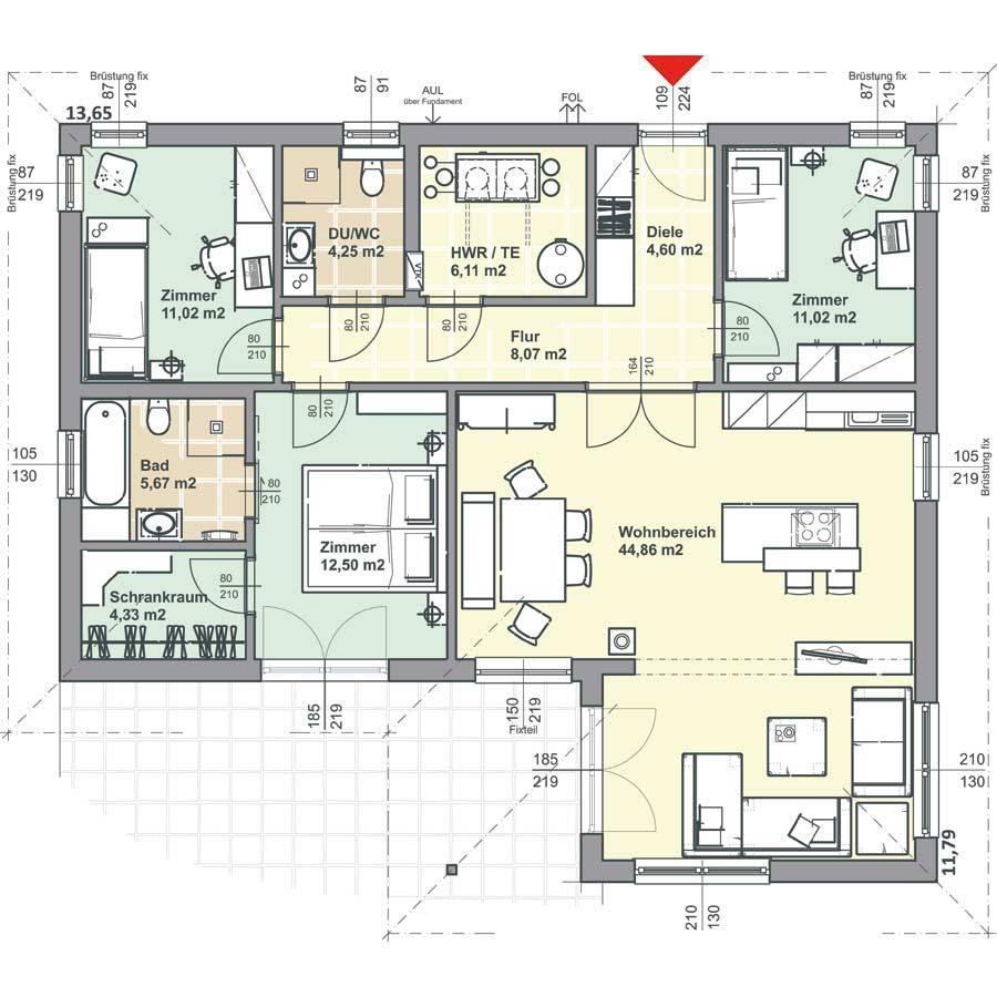 95m2 bungalow f r 4 personen haushalt seite 5. Black Bedroom Furniture Sets. Home Design Ideas