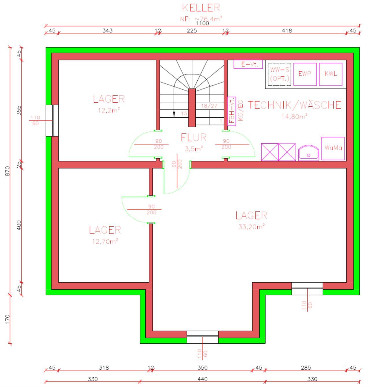 EFH 145m² - Entwurfsplan