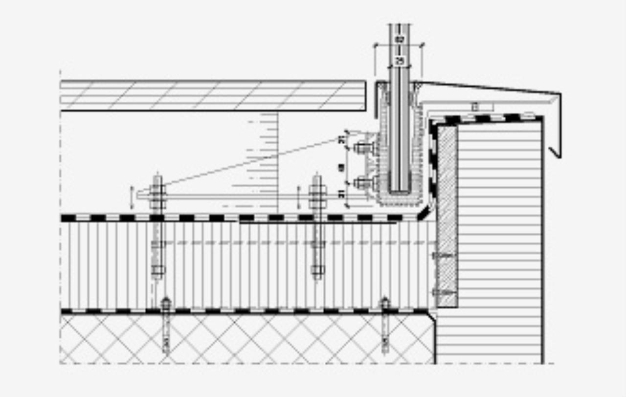 Montage Nurglasgelander Auf Attika Bauforum Auf Energiesparhaus At