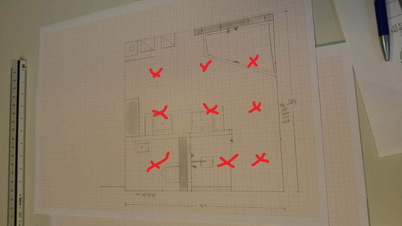 Aufteilung spots badezimmer bauforum auf for Aufteilung badezimmer