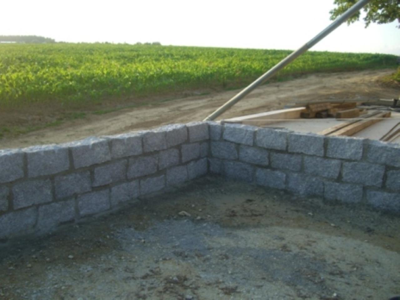 kleine granitsteinmauer - fundament? | bauforum auf energiesparhaus.at