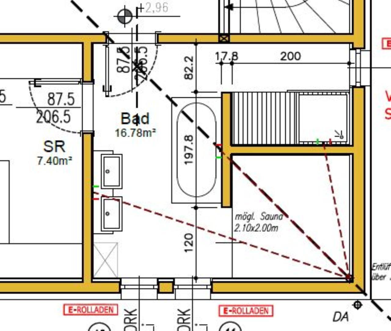 planung bad bauforum auf. Black Bedroom Furniture Sets. Home Design Ideas