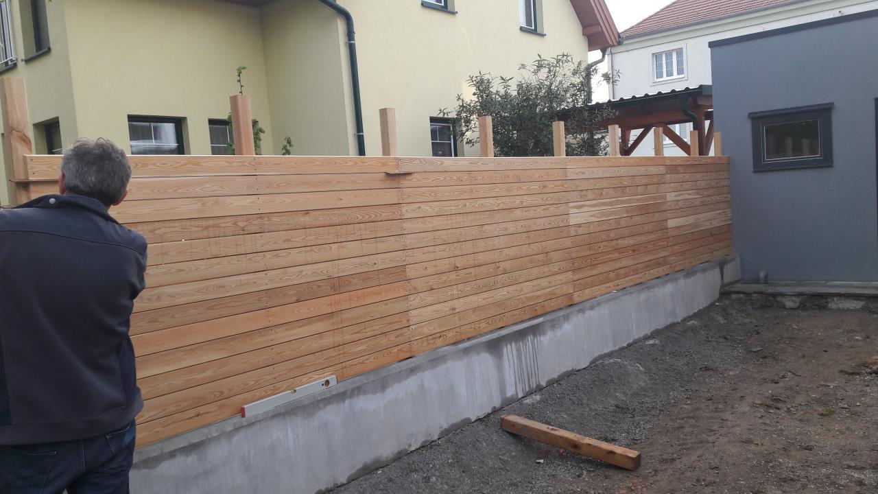 Hilfe Bei Sichtschutz Rhombusschalung Larche Gartenforum Auf